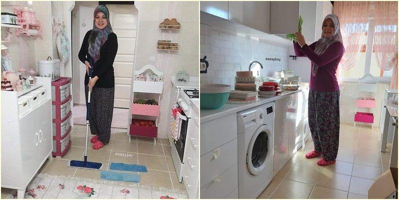 جولة في منزل سيدة تركية مثير للإعجاب بتنظيمه الراقي و أناقته Beautiful Pakistani Dresses Home Appliances Washing Machine