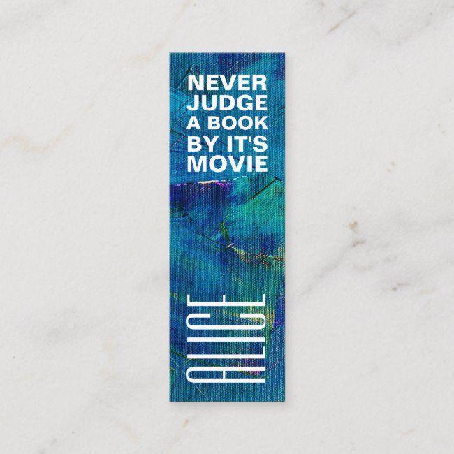 Blue Art Bookmark Mini Business Card Zazzle Com Mini Business Card Blue Art Printing Double Sided