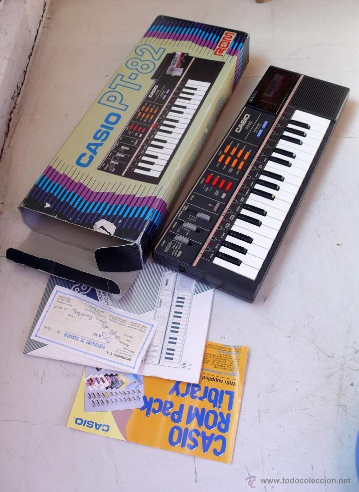 Teclado Casio PT 82. Con caja, instrucciones y garantía. Años 80. Sin apenas uso.