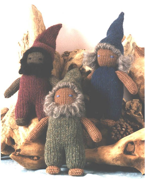 Knitted Waldorf Inspired Dwarf kits and patterns from Weir Crafts ...