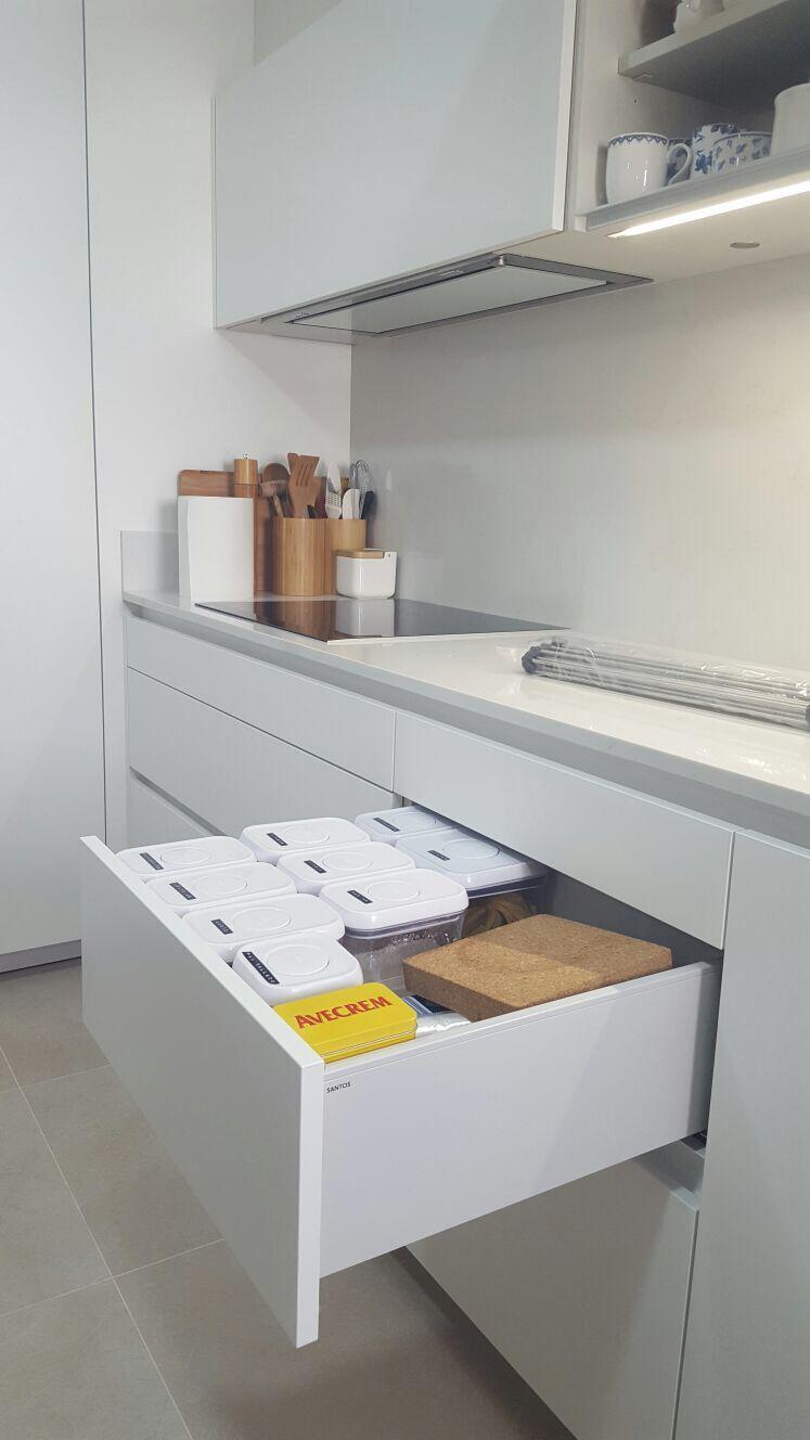 NUEVO PROYECTO ENTRECUINES ]* Cocina: MD Line Blanco Sef anti-huella ...