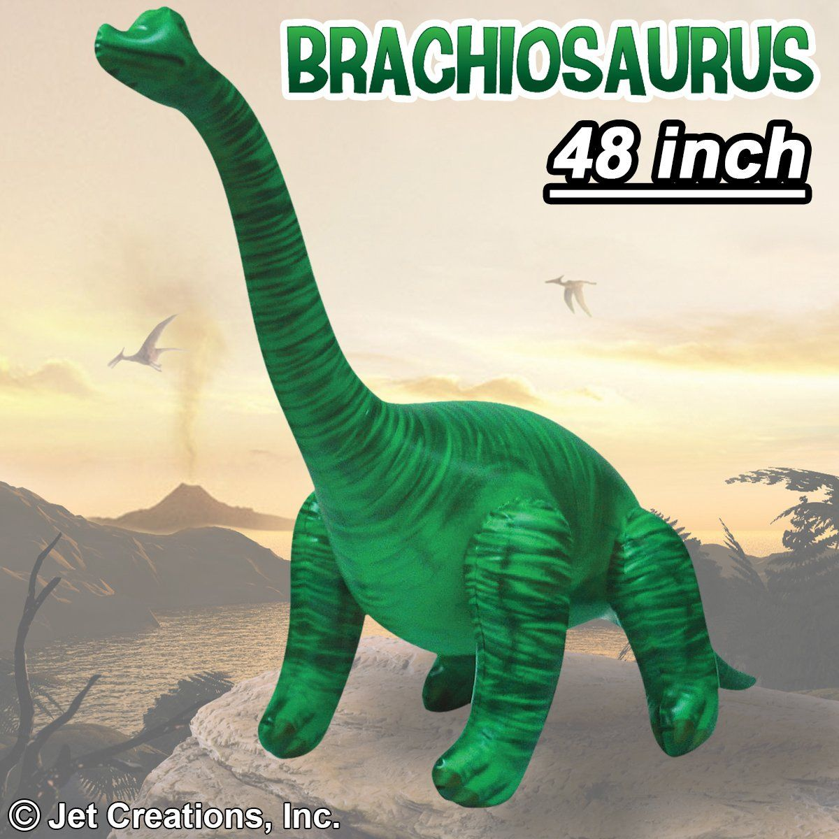 Inflatable Brachiosaurus, 48 inch Long [DIBRAC4] Best
