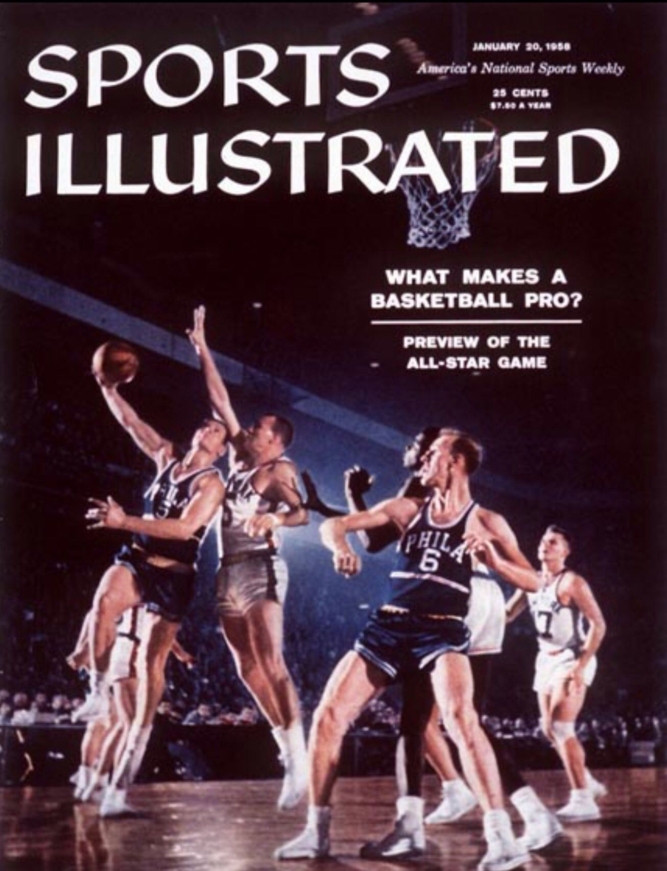 Sports Illustrated cover January 1958 Preview of the NBA