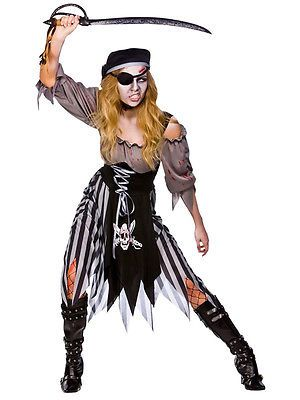 Adult/'s Womens Swashbuckler Pirate Printed Costume Sublimation Shirt