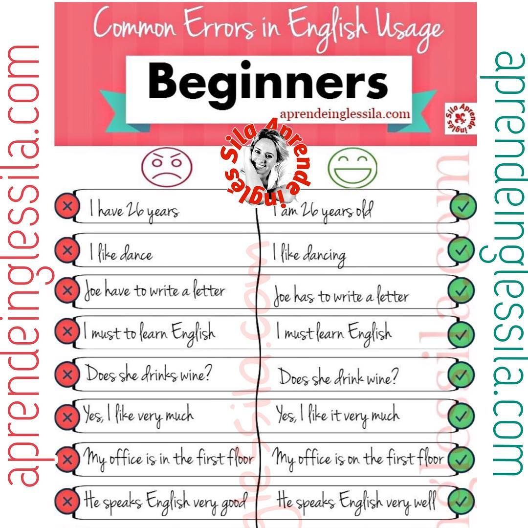 Common Errors In English Usage Beginners