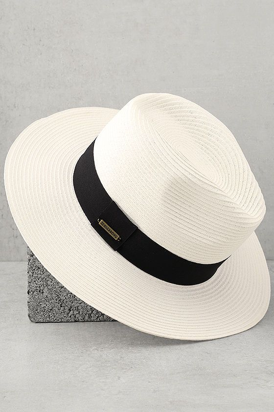 8e11d6a20faae Stylish straw hat with a fedora-inspired design