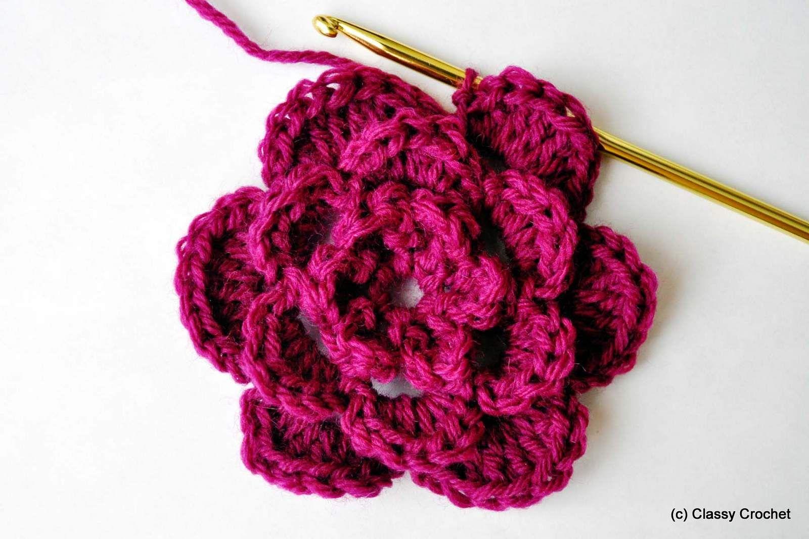 Basic Crochet Flower Tutorial  1ea5f2dc42d