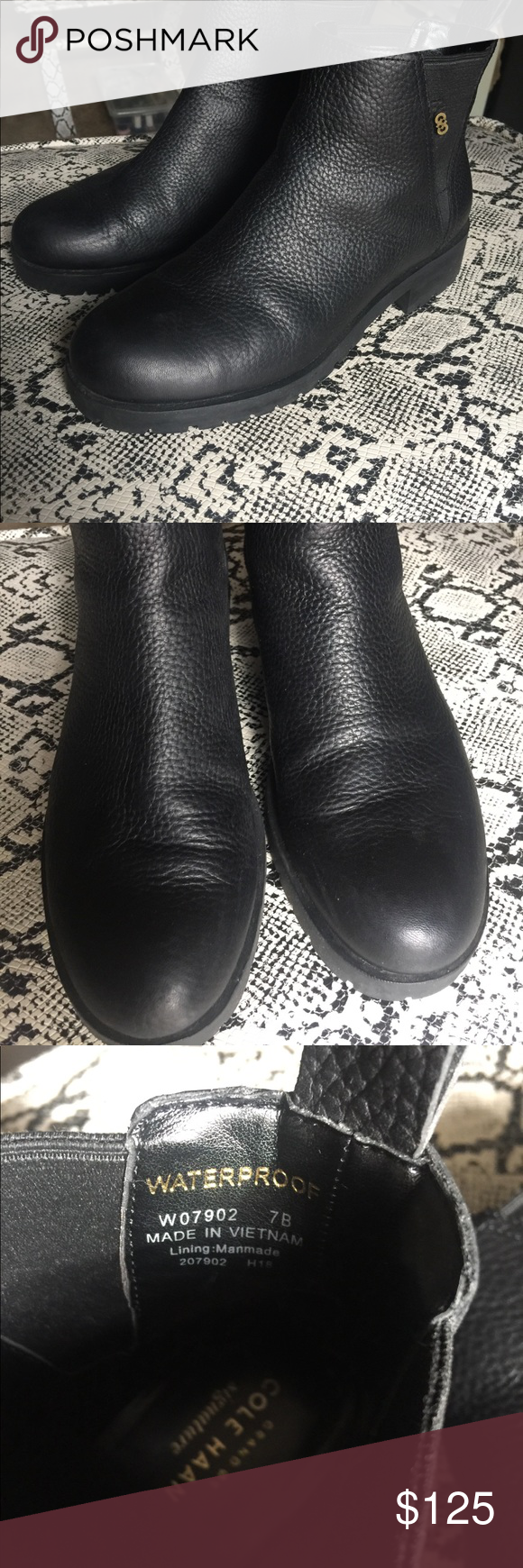 a11f7cf7c6d Cole Haan Gently Worn Calandra Bootie Size 7 Waterproof construction ...