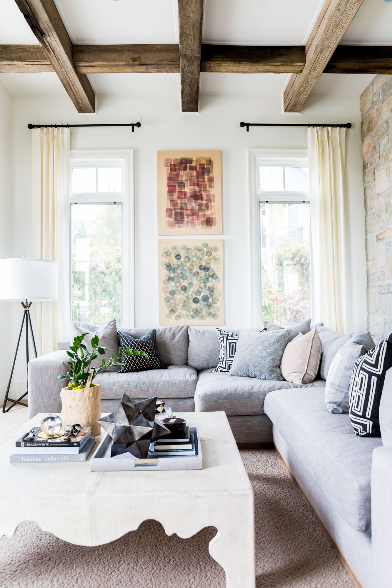Cosy living room design with wooden beamed ceilings | Liv Design ...