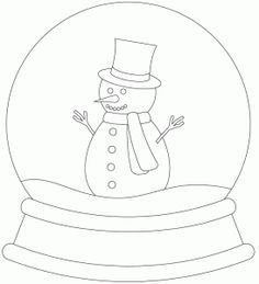 Christmas Snow Globe Coloring Page Printable Snow Globes