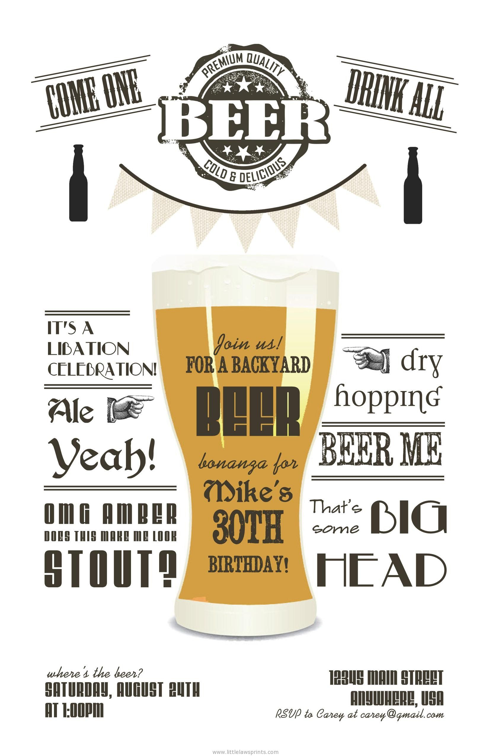 beer party invitations www