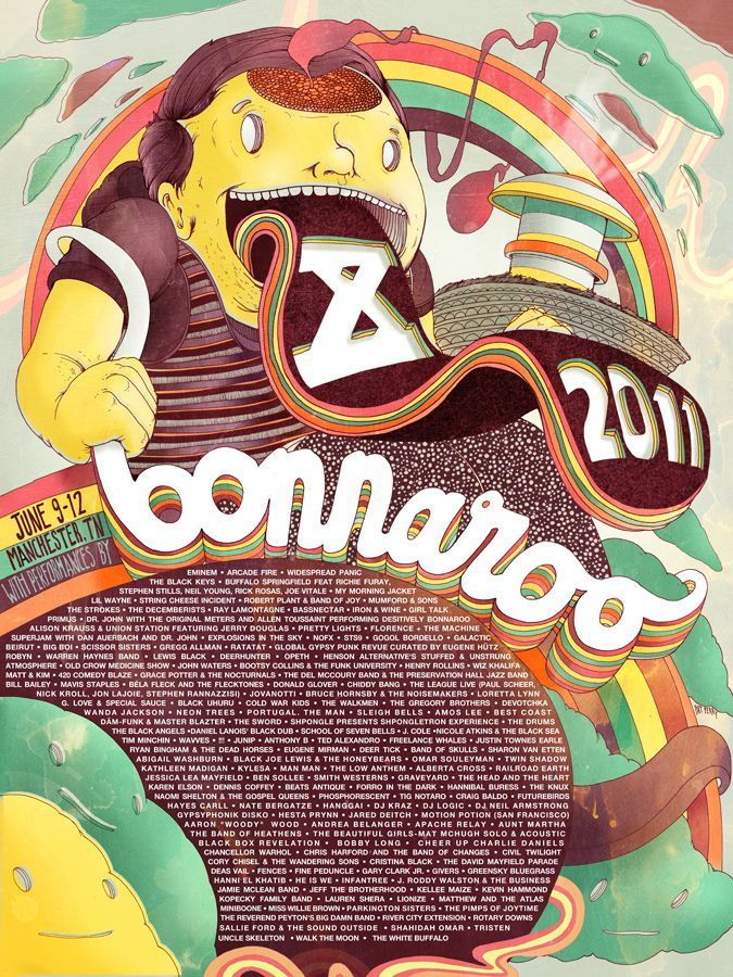 Bonnaroo 2019 Official Poster Without Frame Birthday Gift Wall Decor Gift US