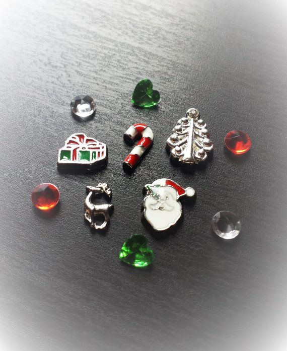 Set of Christmas Floating Charms for Large by PrettyPalazzo