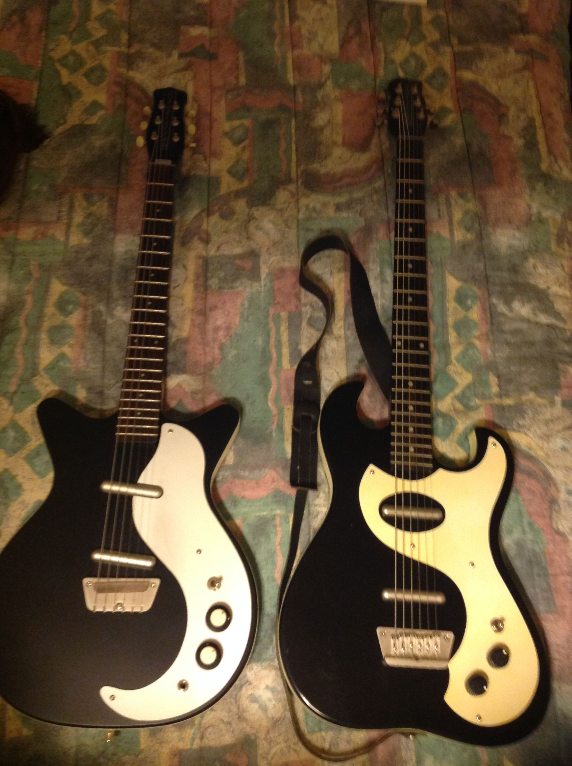 Danelectro baritone on the right | Baritone guitar ...