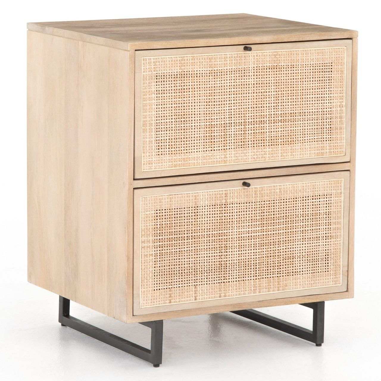 Audrey Woven Cane 2 Drawers Filing Cabinet Drawer Filing Cabinet Filing Cabinet Coastal Style Furniture