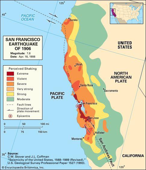 San Francisco Earthquake Of 1906 San Francisco Roots California