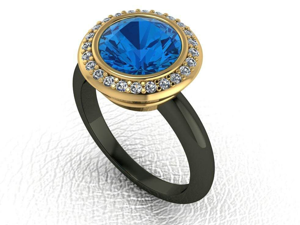 3 Carat Certified Blue Sapphire Engagement Ring