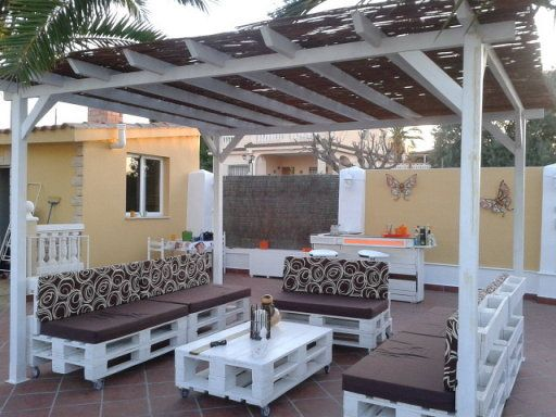 Fantastico Rincon Chill Out Fabricado Con Palets Pallets Patios - Palets-chill-out