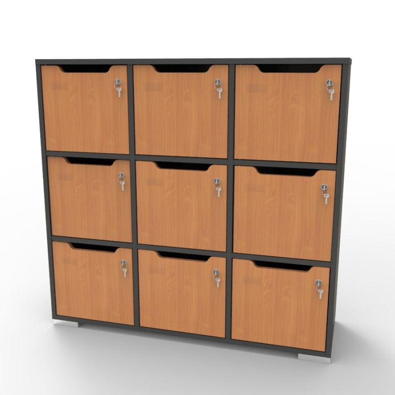 Meuble de rangement bureau et vestiaires meuble a casier en bois