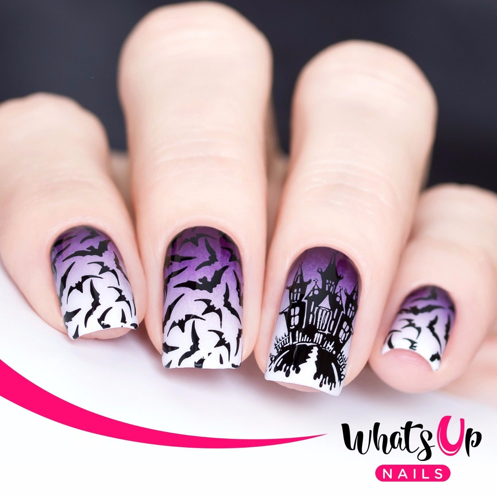 B023 Creepin It Real Stamping Plate For Halloween Stamped Nail Art ...