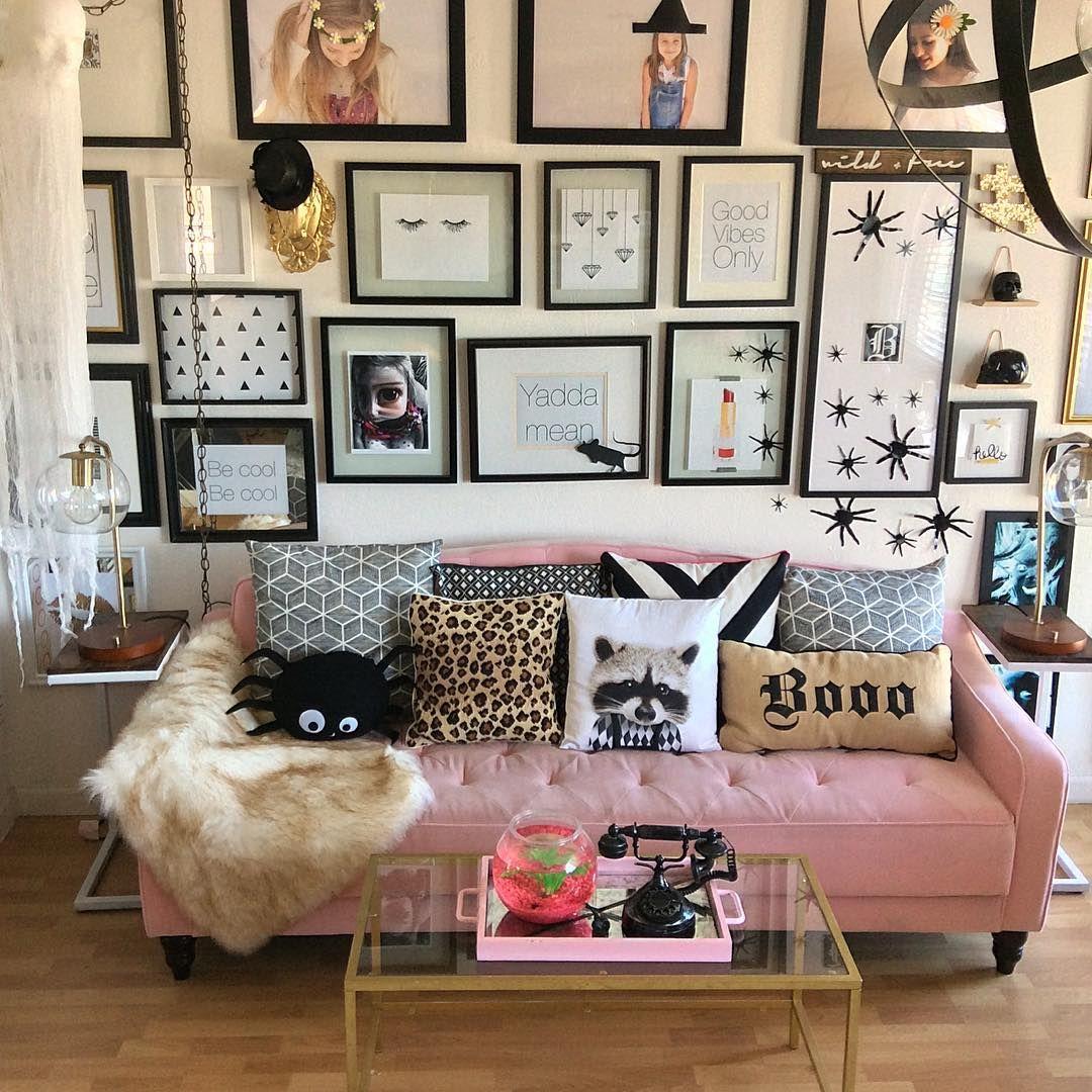 pink sofa novogratz halloween