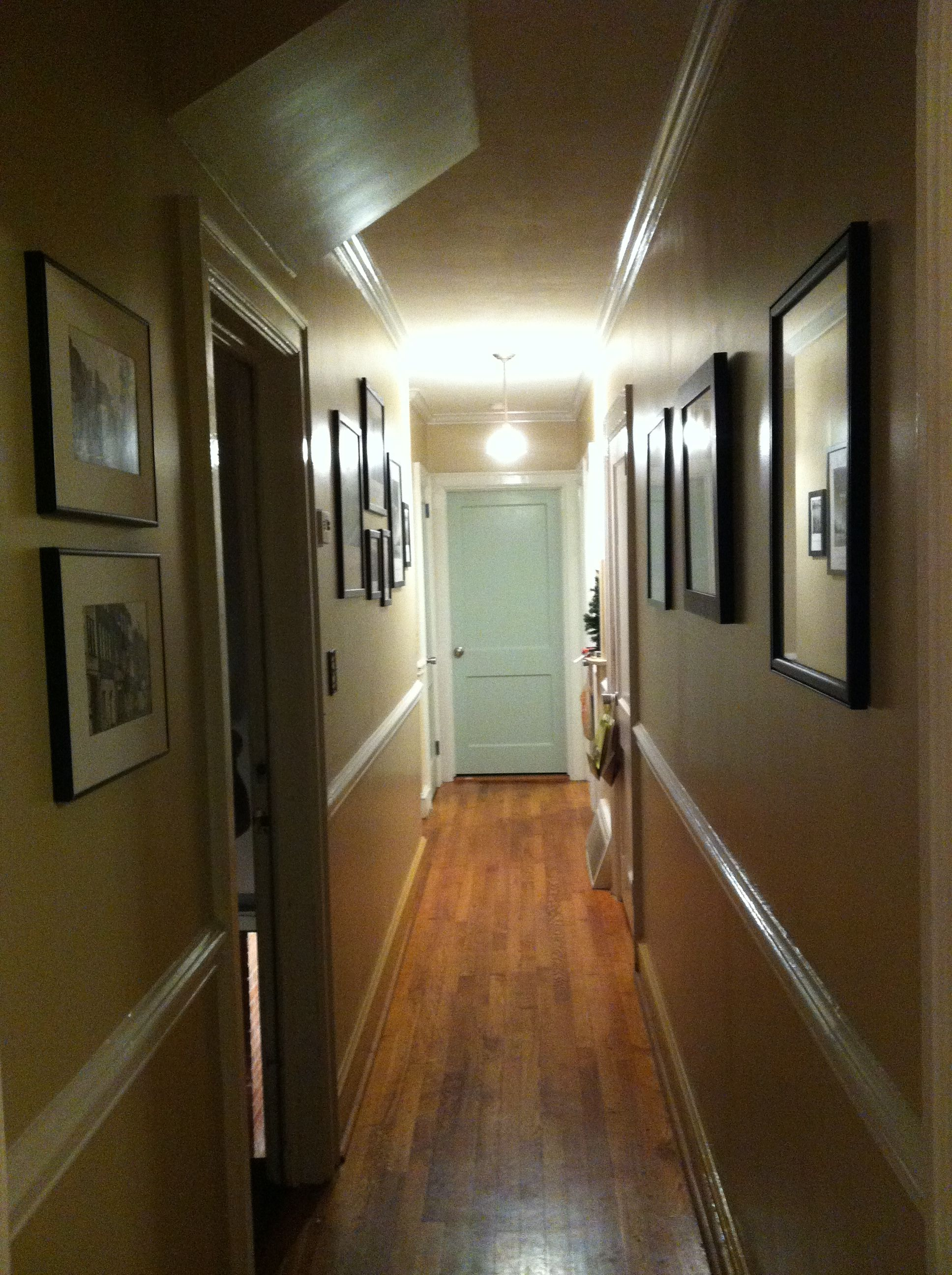 Paint Door At The End Of The Hallway To Brighten Up The Space Small Hallways Painted Doors Lighting Design Interior