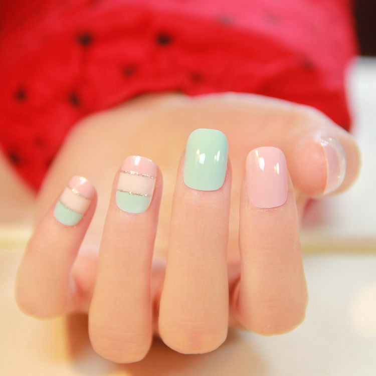 Min order 12 pieces any style total, Square toe short design nail ...