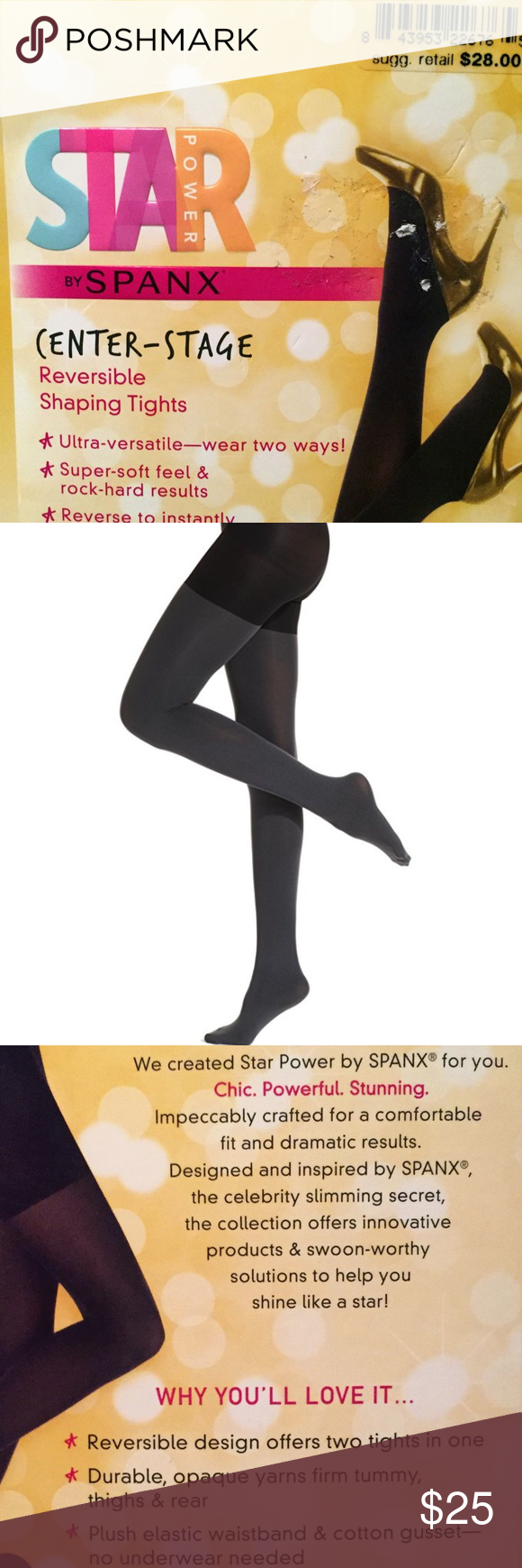 f0cf04e4181 Star Power by SPANX Center-Stage Shaping Tights Star Power by SPANX  Center-Stage