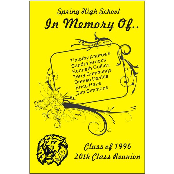 reunion basics class reunion memorial banner school spirit design