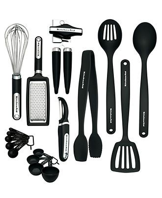 $40 KitchenAid Utensils and Gadgets, 17 Piece Set - Utensils ...