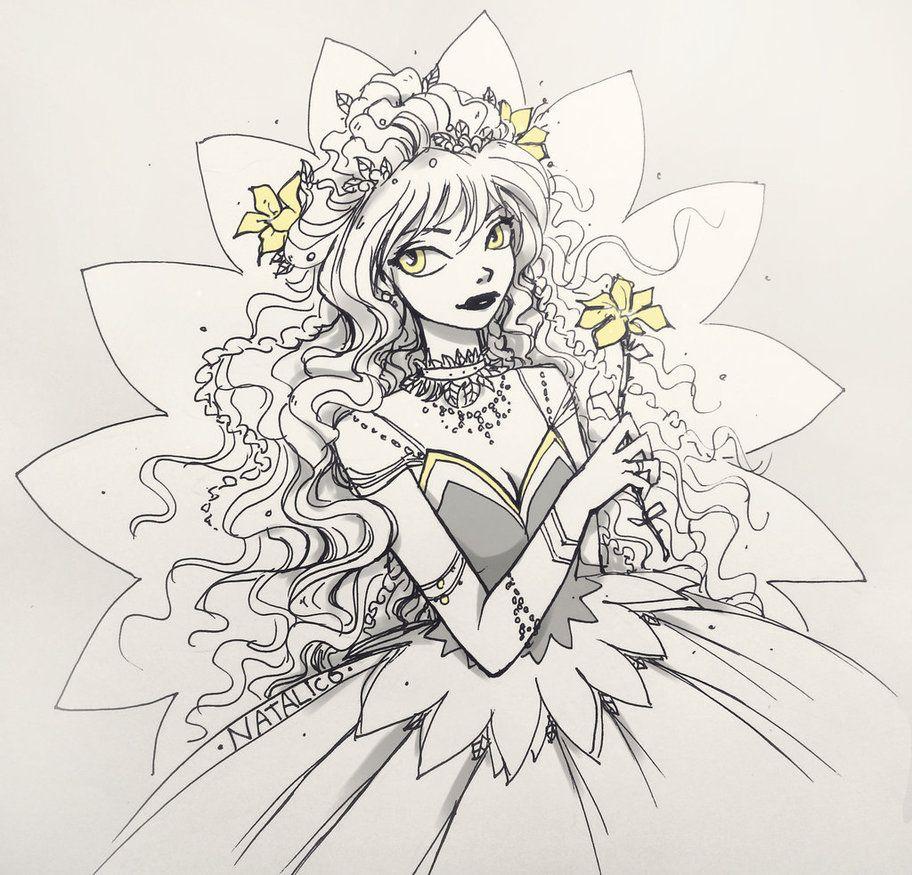Yellow flower by Natalico | Dibujo | Pinterest | Dibujo con lapiz ...