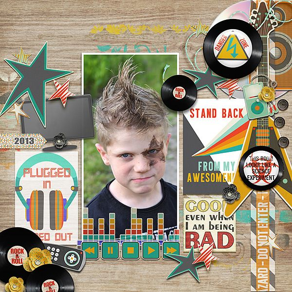 Digital Scrapbook Page Layout by Anita using Not Quite a Mr Papers, Elements and Journal Cards from Etc by Danyale at The Lilypad #etcbydanyale #thelilypad #digitalscrapbooking #memorykeeping #teenager