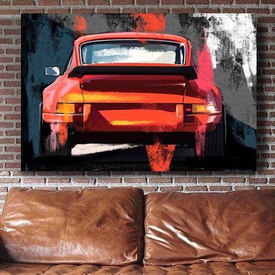 Porsche carrera 911 Targa, classic car large wall art