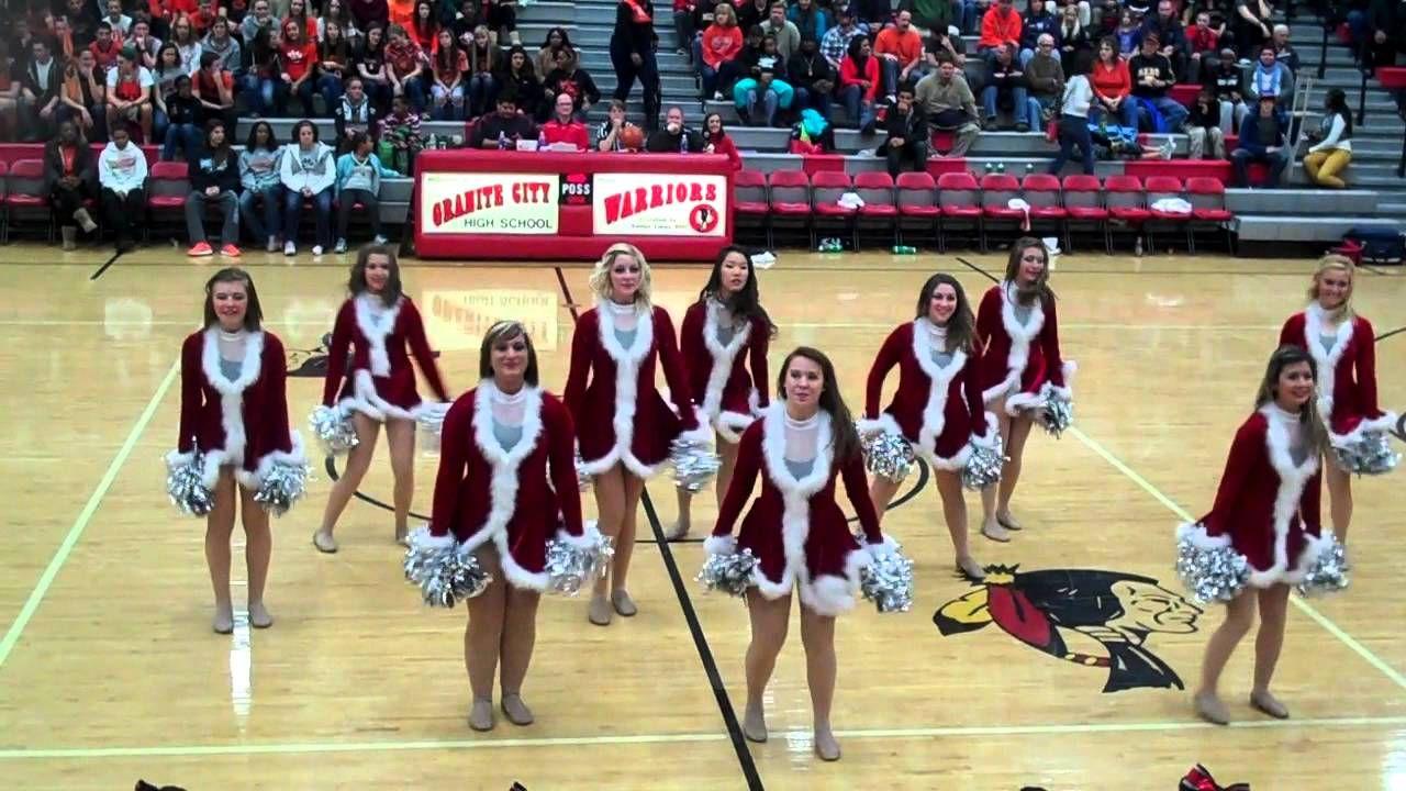 Granite City High School Dance Team Performing Thier Christmas Dance D High School Dance Dance Teams School Dances