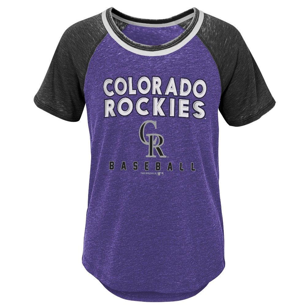 e0707d56ac82 Colorado Rockies Girls' Burnout Alt T-Shirt - XL, Multicolored
