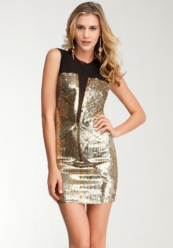 21++ Bebe gold sequin dress inspirations