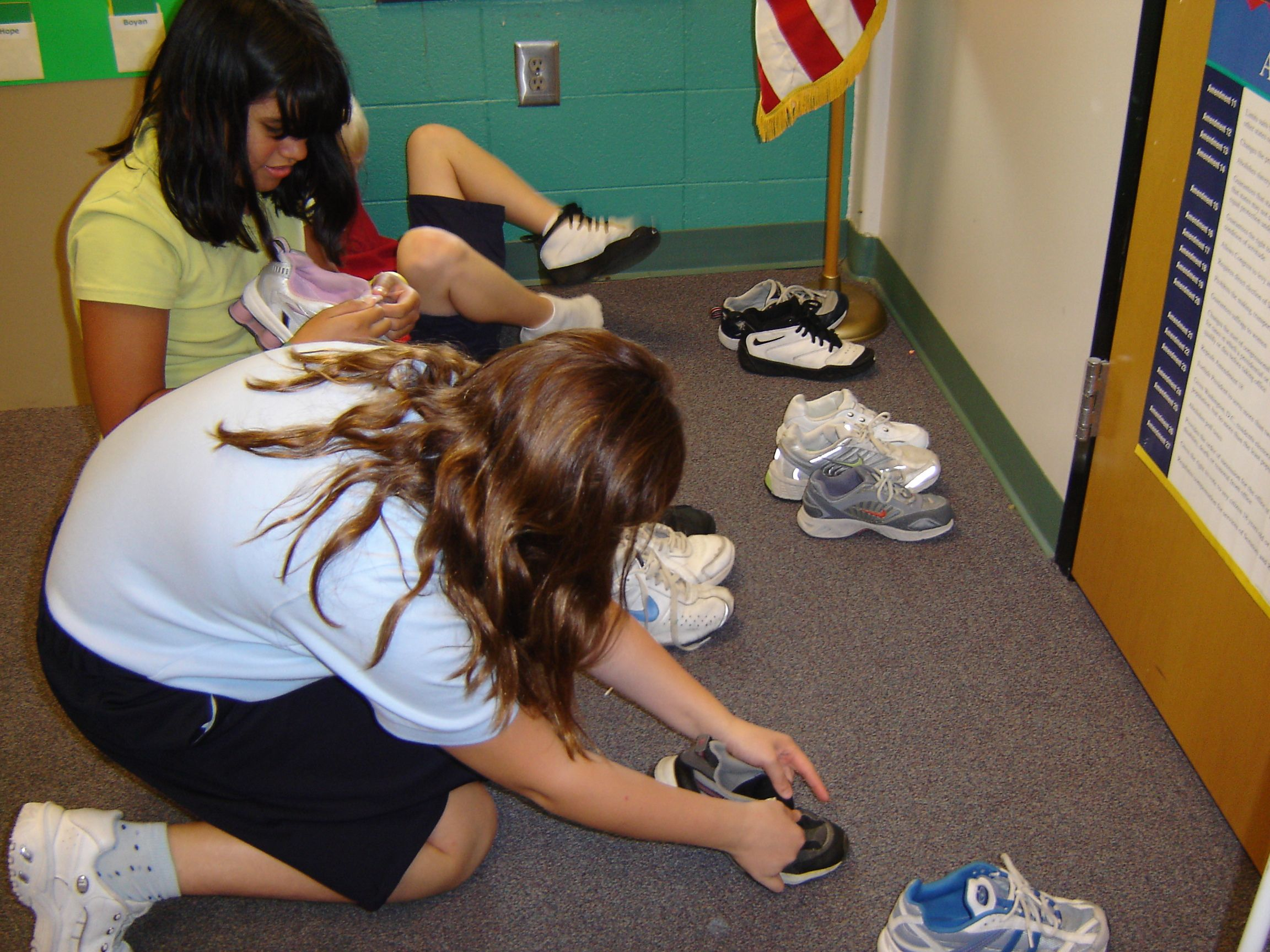 Have Students Each Remove One Shoe And Classify Them