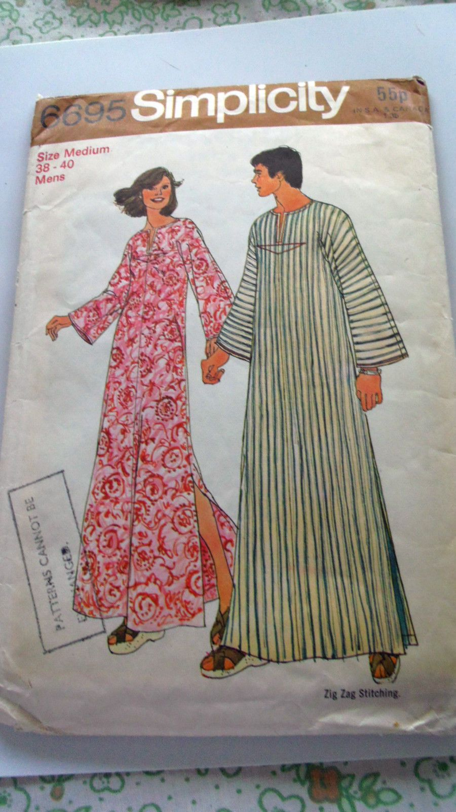 Missionary Auction 1 Vintage Complete Used Simplicity Sewing Pattern ...