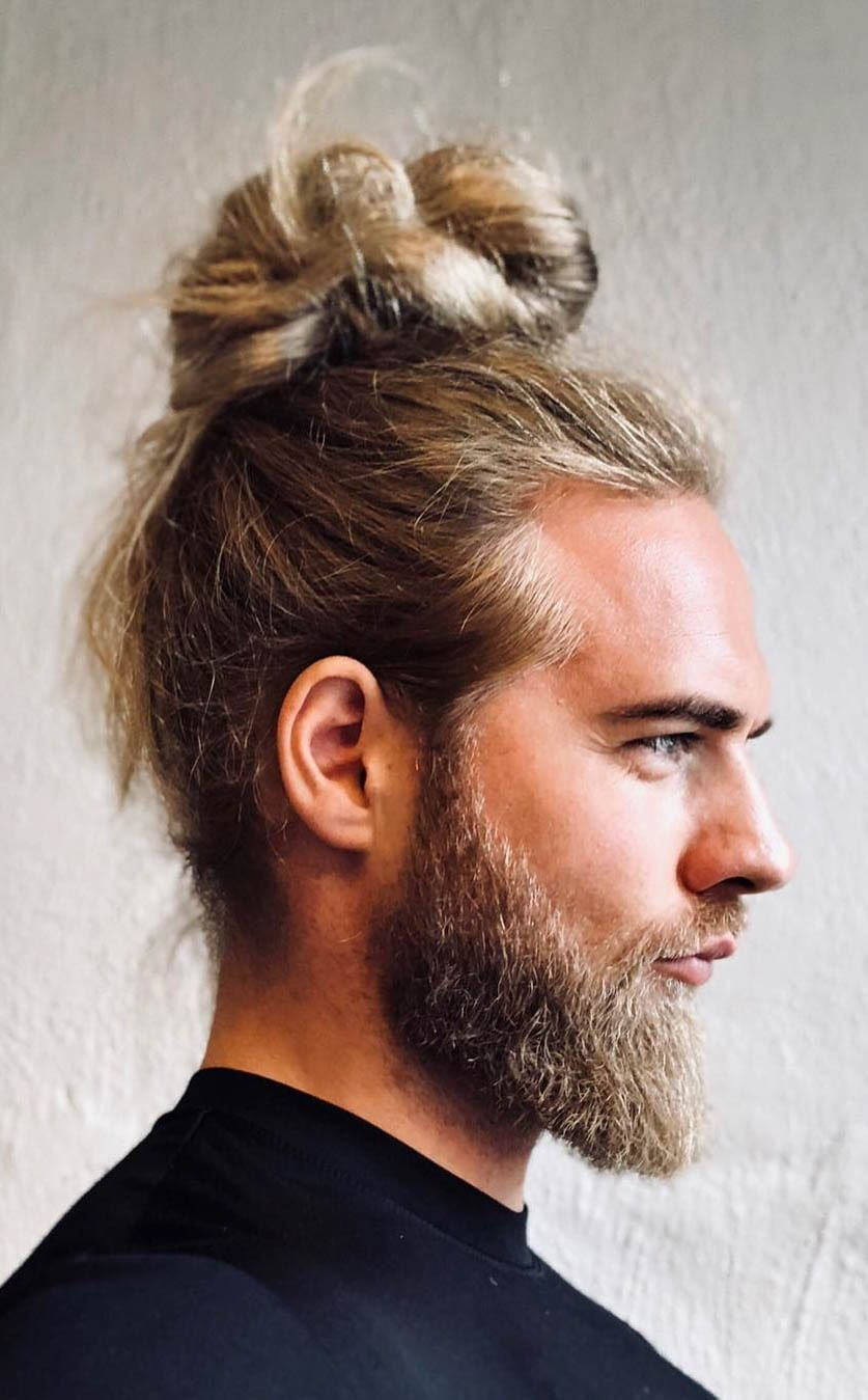 7 Types Of Man Bun Hairstyles Gallery How To Man Bun Hairstyles Guy Haircuts Long Hair And Beard Styles