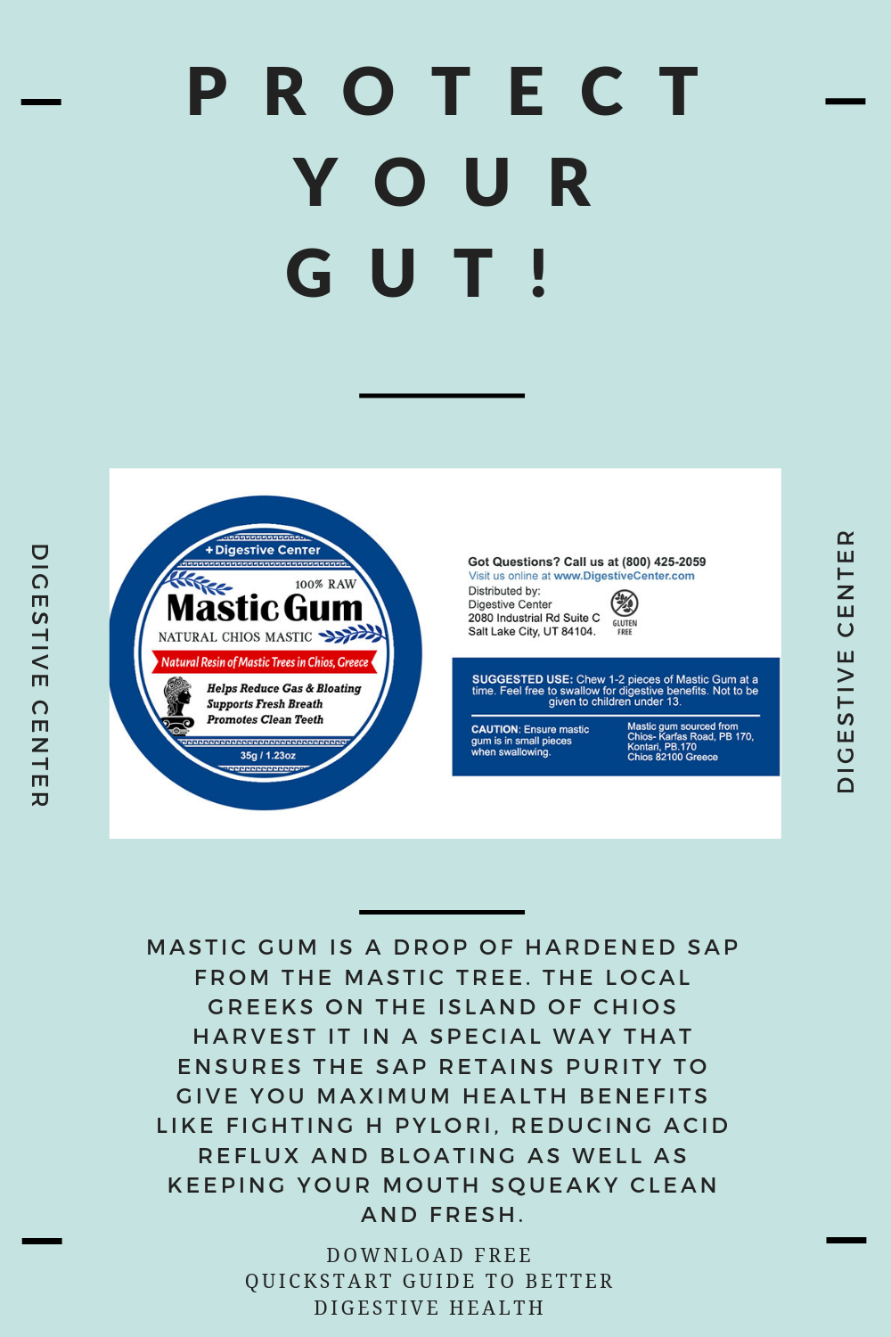 The 100% Raw Mastic Gum from the Digestive Center helps ...