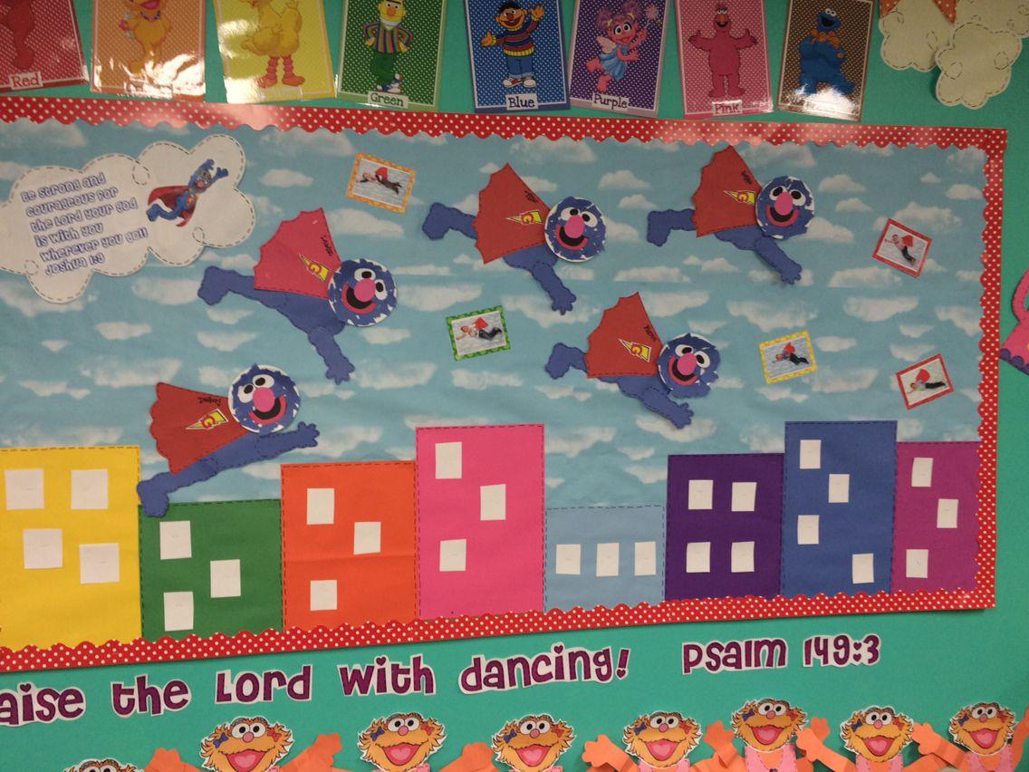 Sesame Street theme classroom: Super Grover