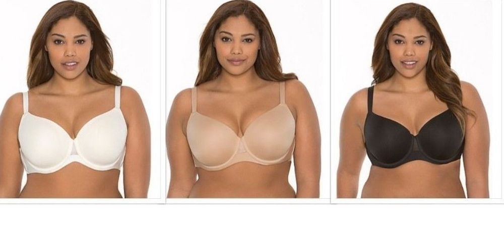 New Cacique By Lane Bryant French Full Coverage Mesh Panel Solid