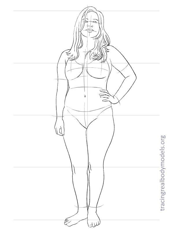 Tracing Real Body Models Fashion Figure Templates Fashion Model Sketch Model Sketch