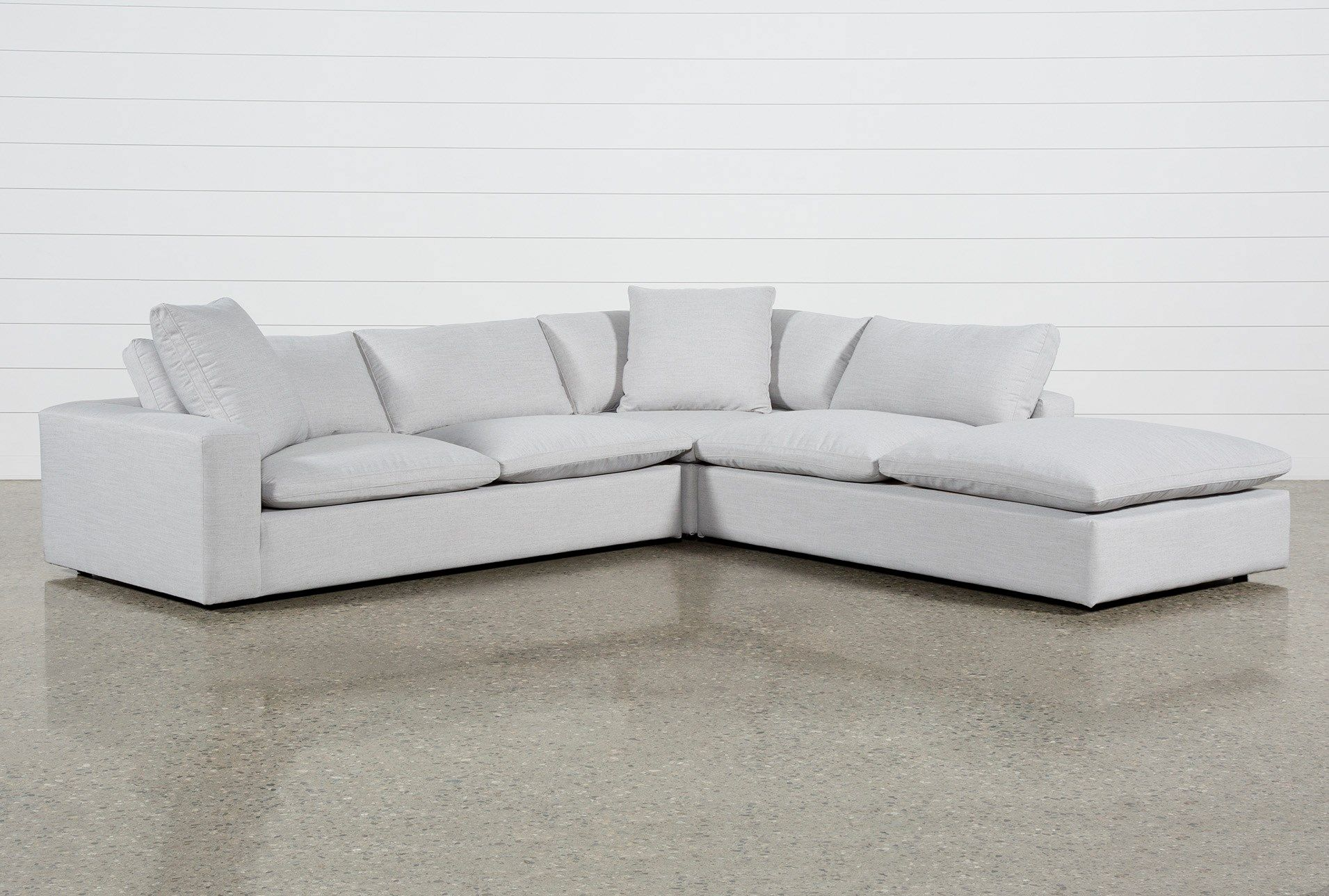 Utopia 3 Piece Sectional With Right Facing Bumper Chaise Sectional 3 Piece Sectional Chaise