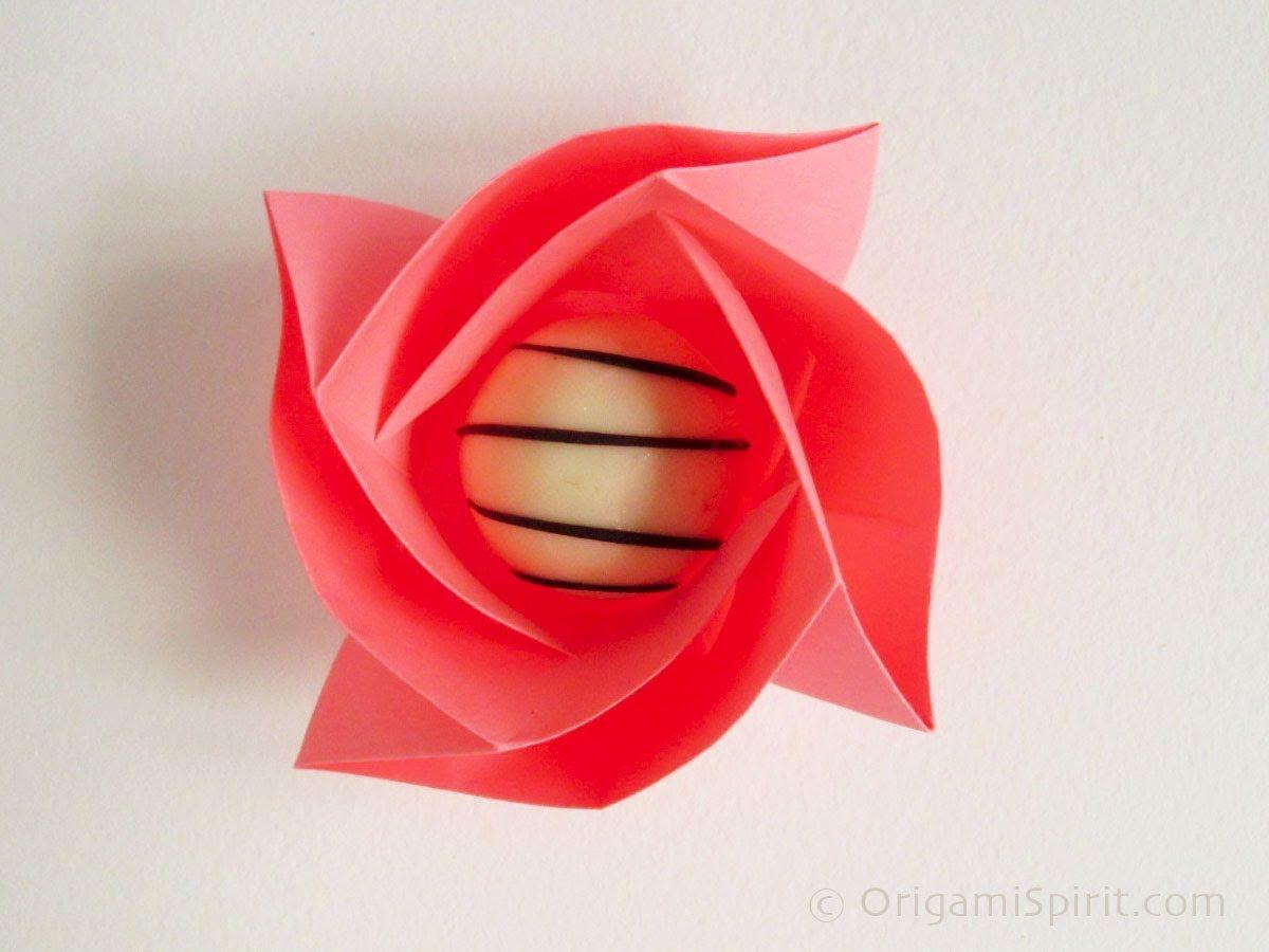 2011 VIDEO TUTORIAL Origami Rose Box :: Caja Rosa Origami ... - photo#34