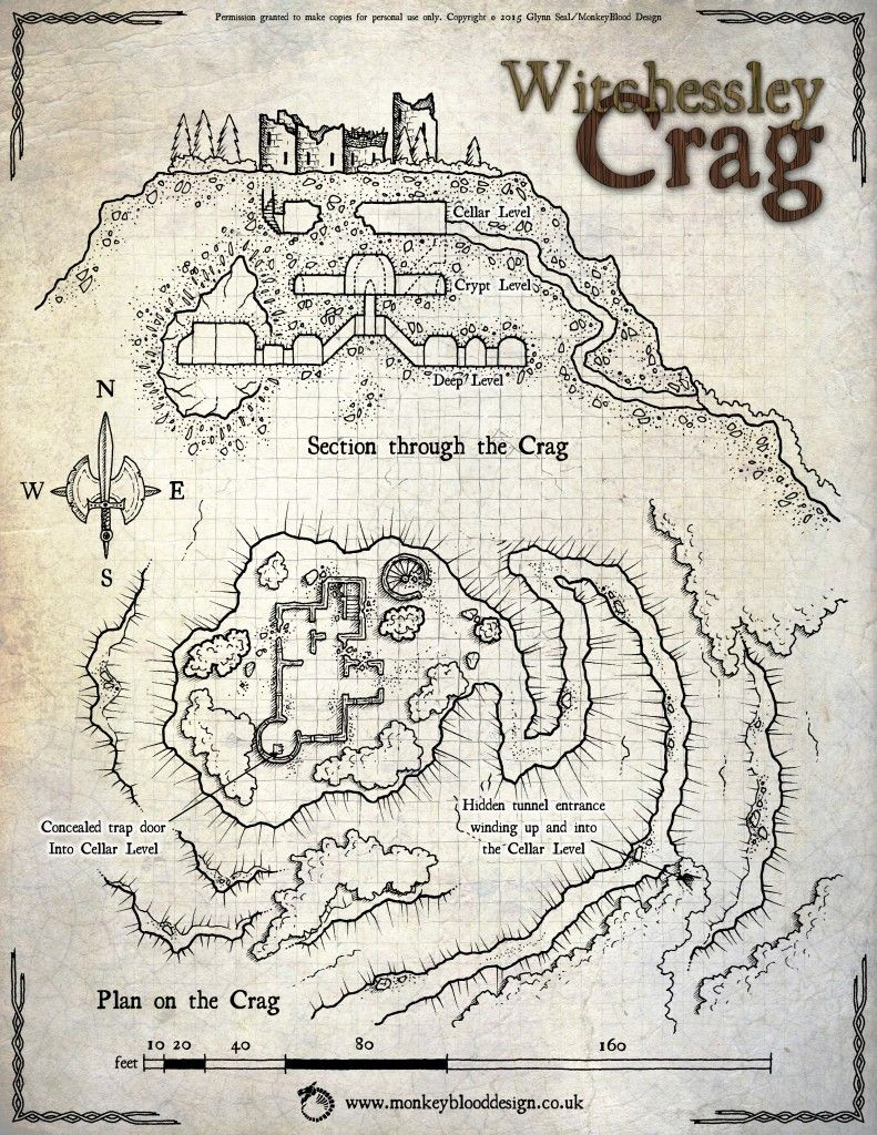 Map monday witchessley crag u osr today tabletop rpg maps