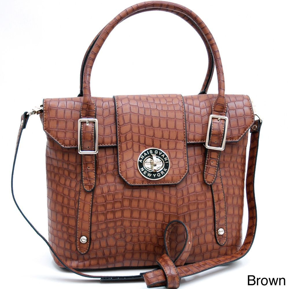 Anais Gvani On-the-go Croco Faux- Embossed Crossbody Bag, Women's