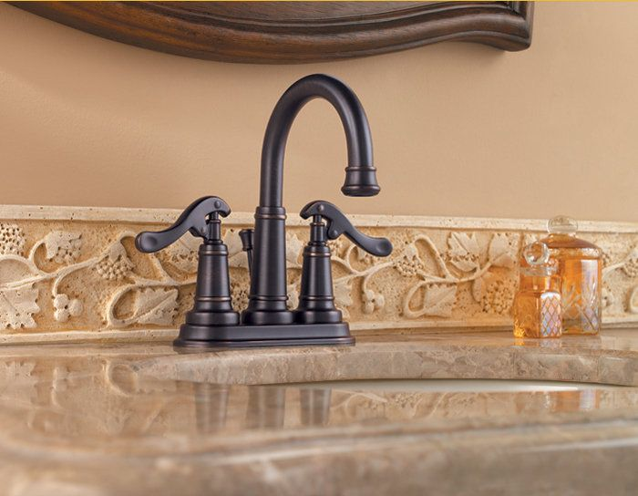 Pfister GT43-YP0 Ashfield Centerset Bathroom Sink Faucet with Country Pump Style Handles (Low Lead Compliant)