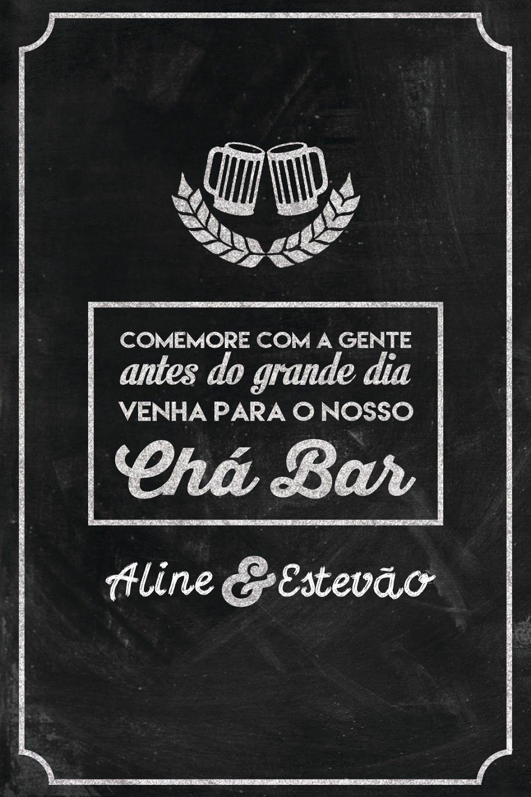 Convite Para Chá Bar Cha Bar Bar Wedding Invitations