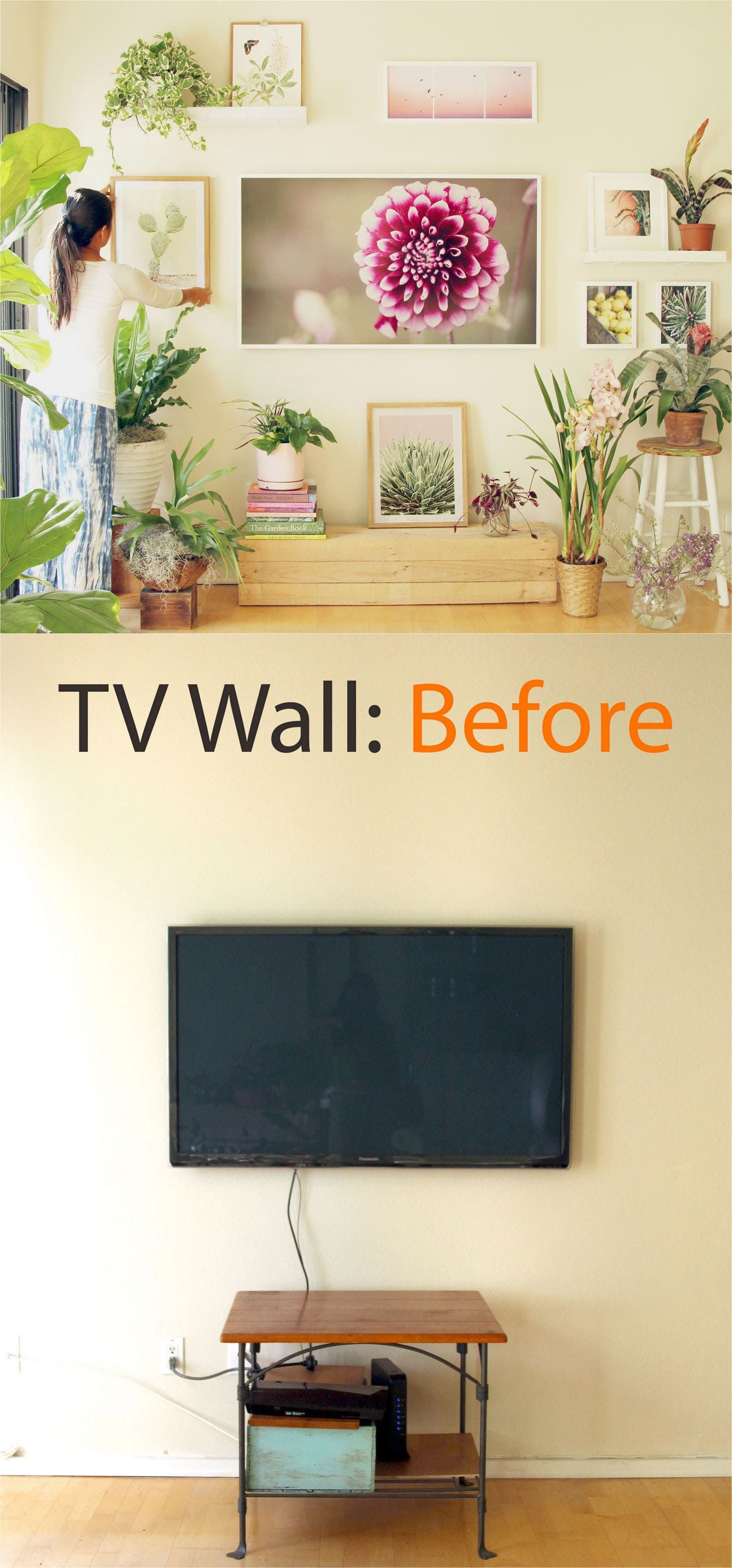 TV Wall to Beautiful Picture Wall in 5 Easy Steps | Tv walls ...